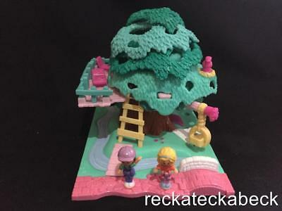 1994 Polly pocket TREE HOUSE -   POLLYVILLE 100% complete  RARE