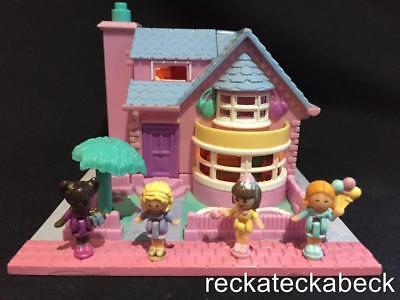 1993 polly pocket BAY WINDOW HOUSE   POLLYVILLE  100% complete  **lights up**