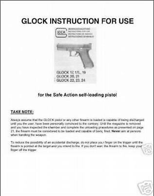 GLOCK ARMORER'S OWNERS Instruction and Maintenance Manual