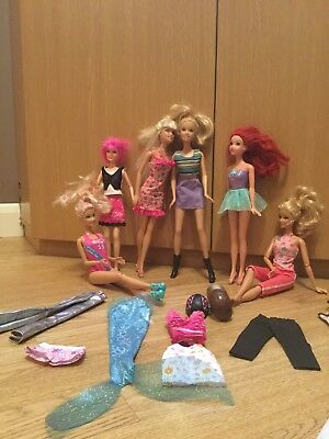 BARBIE BUNDLE inc ARIEL & SCARLETT FULLY CLOTHED WITH EXTRAS