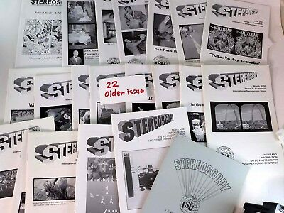 22 Issues STEREOSCOPY newsletter ISU - International Stereoscopic Union 3D HB