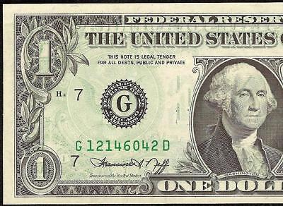 Au 1974 $1 One Dollar Bill Full Offset Print Error Note Currency Paper Money