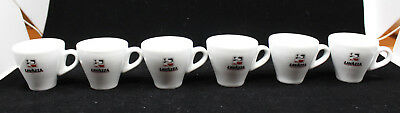 Lavazza Logo Espresso Demitasse Coffee Cups Only IPA Made in Italy Set of 6