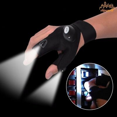 LED Light Gloves Finger Auto Repair Received Outdoors Lighting Gloves Artifact