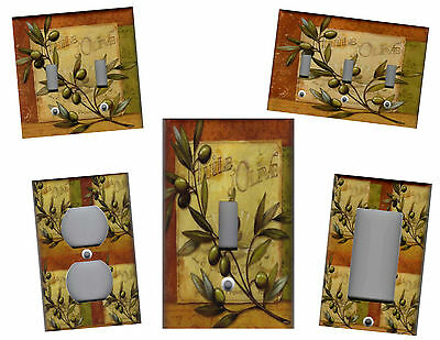 Italian Green Olives Tuscan Kitchen Home Decor Light Switch Cover Plates