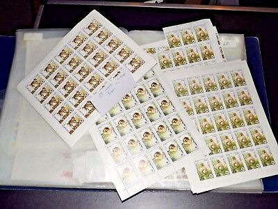 WWF part 3 extensive dealer stock 1000s stamps partly in compl. sheets (4191