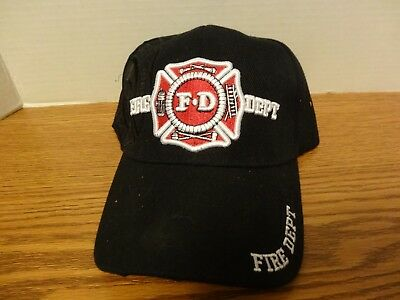 Fire Department Logo Baseball Cap with Side Embossed Logo Also