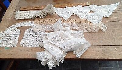 A Nice Lot Of Vintage / Antique Lace And Tatting Items, Antique Collar Etc