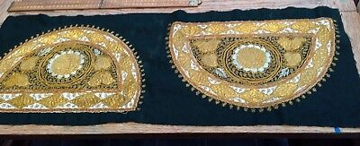Beautiful Vintage / Antique Embroidered Pattern For Hat (?), Antique Embroidery