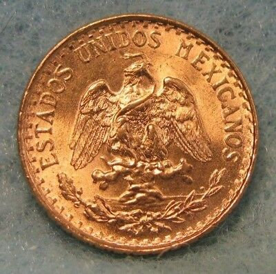 1945 Mexico 2 Pesos World GOLD Coin Choice Brilliant Uncirculated++ Great Luster