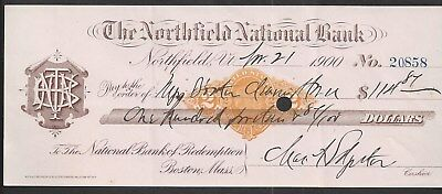 1900 Northfield Vermont Bank Draft RN-X7
