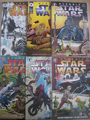 Classic STAR WARS : #s 4,8,9,10,12,19. 6 issues of the 1992 Dark Horse series