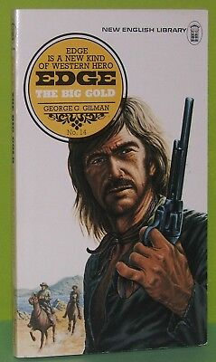 EDGE #14 : The Big Gold / GEORGE G GILMAN  / 1974 NEL 1st  / Western / VG