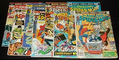 AMAZING SPIDER-MAN vol 1 #139,140,143,146,152,155,156,162 marvel 1974 - 77