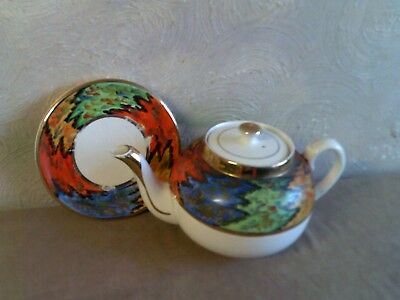 Clews Colourful Vintage Teapot With Stand