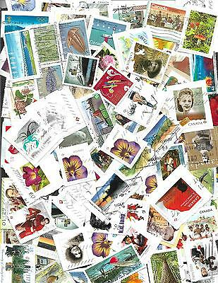 Lot # C1    Canada  200 Larges Stamps On And Off Paper 2017 Included