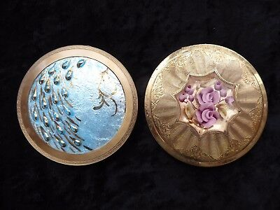 2 vintage ladies compacts ##OAD76ABS