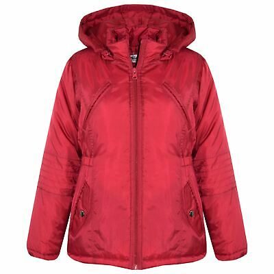 238315395 GIRLS JACKETS KIDS Designer Foam Padded Hooded School Warm Thick ...
