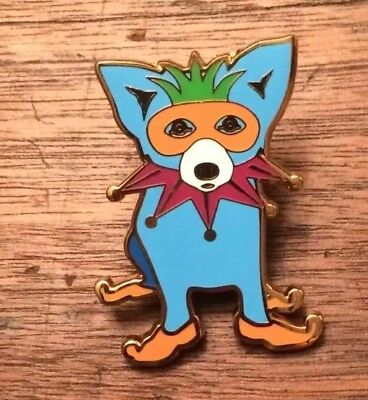 George Rodrigue Blue Dog Mardi Gras Lapel Pin-NEW/RARE-LAST ONE