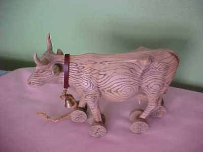 "COW PARADE cow # 9130 "" PULL TOY "" 2000 Westland Gift Ware PRE-OWNED NO BOX"