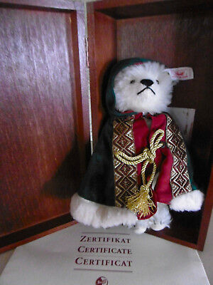 Steiff  Little Santa '98  Japan Christmas Bear  OVP Holzkiste  Lim. 2,500 St.KF