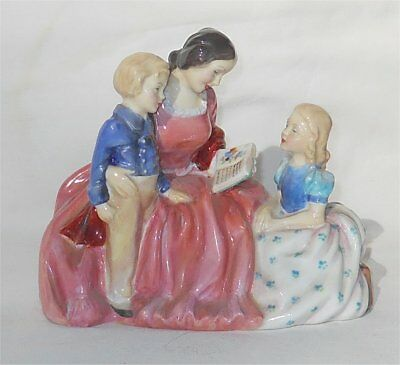 Vintage 1950s Royal Doulton Bedtime Story Figurine Hand Printed HN2059 & Initial