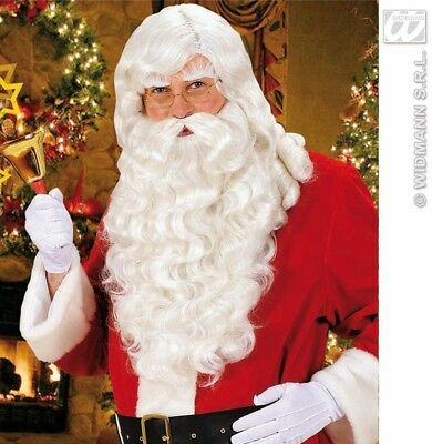 New Deluxe Santa Wig And Beard Eyebrows & Moustache Included Father Christmas