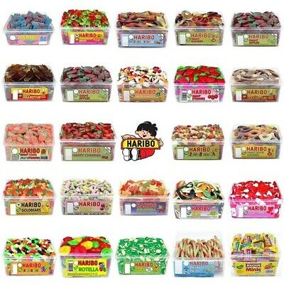 1 X Full Tub Haribo Sweets Hamper Discount Candy Box Party Favours Treats Kid