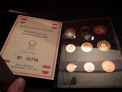 KMS Östereich Proof Set 2003 PP Coin Set