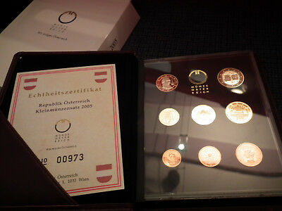KMS Östereich Proof Set 2005 PP Coin Set