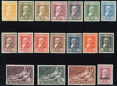 """Spain 1930 """" Death Centenary of Goya"""" set of (18) x stamps (**)"""