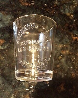 Antique Druggist Measuring Cup, Augustus Lang, Los Angeles, Rx, Pharmacy