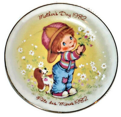 "Vintage AVON Mother's Day 1982 Collectable Porcelain 5"" Plate Little Things"