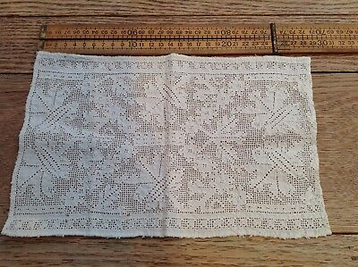 Nice Antique Fabric Sample, White Lace? Antique Lace Sample