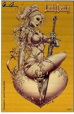 Lady Death Heartbreakers 1 METAL ST VALENTINE 26/33 sign Pulido COA FREE UK POST