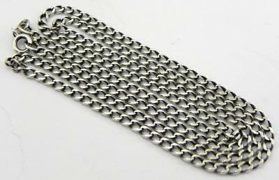 Long Vintage Solid Silver Necklace, 23.5 inches, 8.3gr.