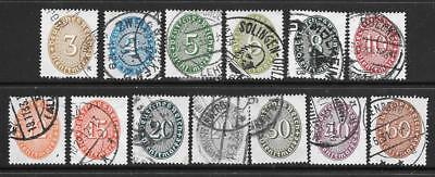 GERMANY - 1927-33 Officials - Part Set of 13 x Used.  Cat £30
