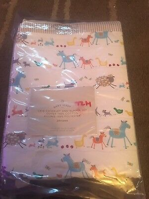 John Lewis Baby Crib Coverlet And Bumper Set New