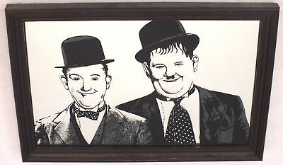 LAUREL & HARDY Small High Quality Mirror Print In Wooden Frame - R36