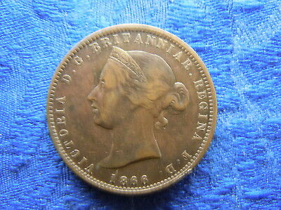 JERSEY 1/13 SHILLING 1866, KM5 cleaned