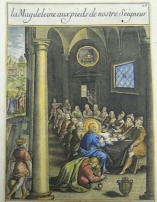 1593 NATAL Wierix Collaert Vos Galle PASSION TABLEAU Mary clean feet of Christ