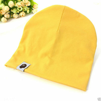 Cotton Beanie Hat New Born Child Baby Boy/Girl Soft Toddler Cap yellow