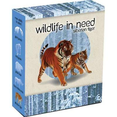 2012 Tuvalu Wildlife in Need 1oz Coloured Silver Coin - Siberian Tiger