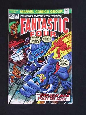 Fantastic Four #134 MARVEL 1973 - HIGH GRADE - Dragon Man app - John Buscema!!