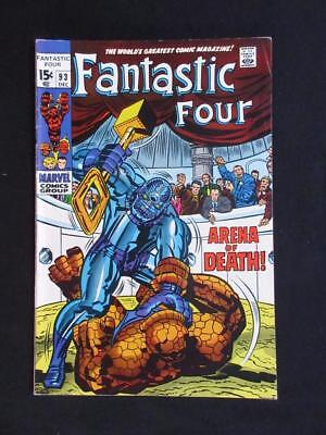 Fantastic Four #93 MARVEL 1969 - HIGHER GRADE - Jack Kirby, Stan Lee, silver age