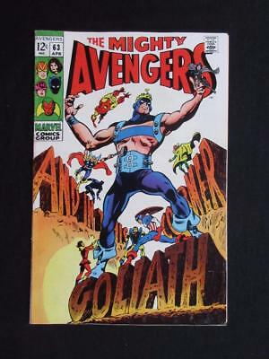 Avengers #63 MARVEL 1969 - HIGH GRADE - Goliath becomes Yellow Jacket - Stan Lee