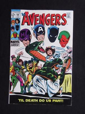 Avengers #60 MARVEL 1969 -HIGH GRADE- Wasp & Yellow Jacket wed - Captain America