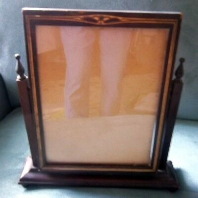 Antique Flip Tilt Swing Swivel Table Top Picture Frame Inlaid GORGEOUS!!!
