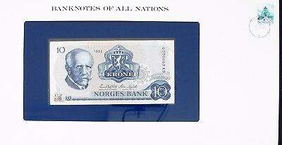 NORWAY -1982 -  10 KRONER - P36c - FANCY S/N -  BANKNOTES OF ALL NATIONS  7488