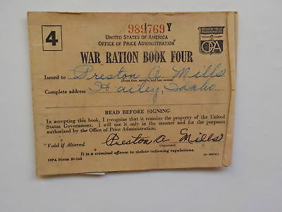 WWII Ration Book 1943 Hailey Idaho Stamps Home Front WW2 World War Two VTG WW II